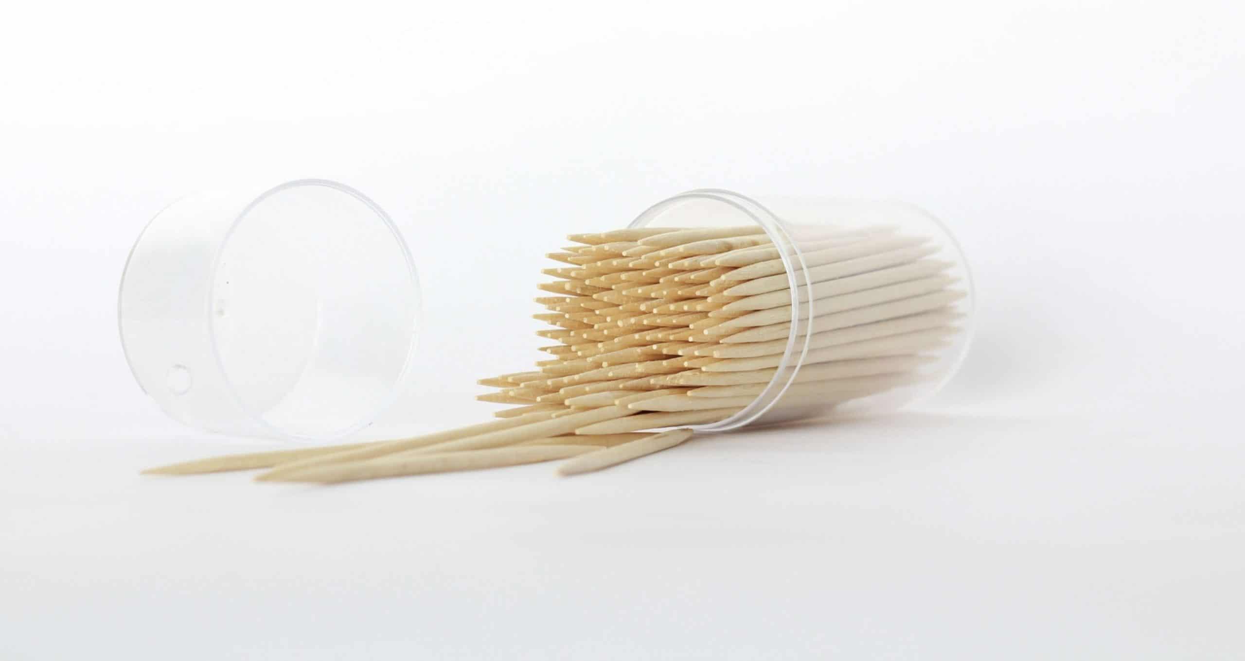 Horizontal toothpicks pack