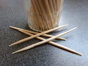 Toothpicks on table