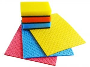 sponges and cleaning cloths